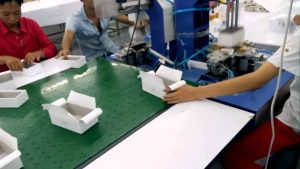 rigid box making production line