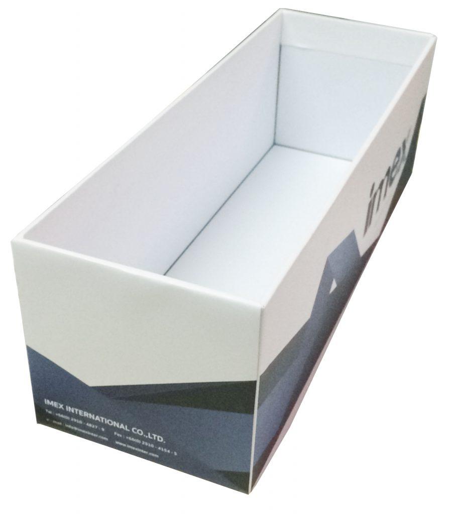 กล่องจั่วปังที่ใช้ใส่แผ่นตัวอย่างกระเบื้องหรู